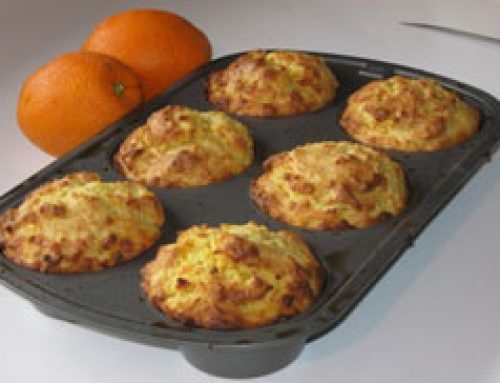 Moist High Altitude Orange Muffins