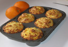 high altitude orange muffins